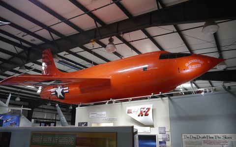 Bell XS-1 in the Edwards Air Force Base museum