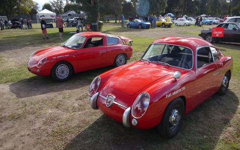 A pair of racing and racy Fiat Abarth 750s