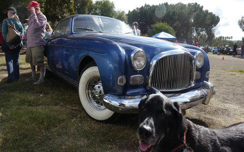 The Best of France and Italy car show has to be one of the coolest events of the year. Here's a Chrysler Ghia concept the owner of which has been good enough to show before. Dodger the dog approves!