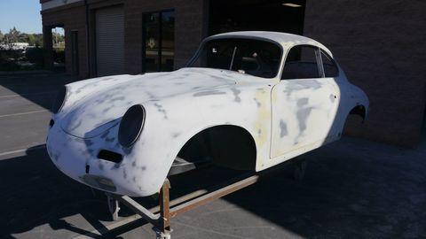 Land vehicle, Vehicle, Car, Classic car, Coupé, Porsche 356, Classic, Antique car, Vintage car, Sedan,