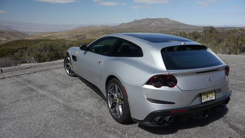 The new GTC4Lusso T is a more affordable version of the GTC4 Lusso. It has a V8 instead of a V12 and rear-wheel drive instead of awd, which makes it lighter and helps the balance quite a bit. Plus, it seats four full-sized adults in snug comfort. Oh, and it goes fast.