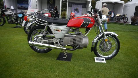 There were many rotary powered bikes on display this year. This is a 1975 Suzuki RE5.