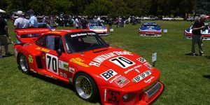 Adam Carolla brought 10 race cars formerly driven by Paul Newman.