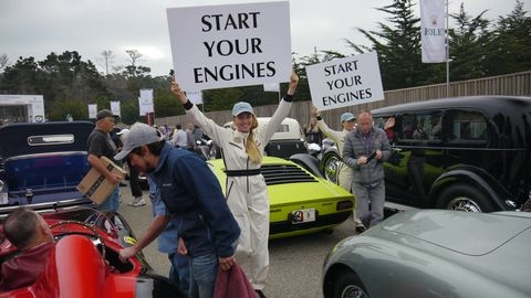 Greetings from The Tour d'Elegance, the rolling car show that sets the stage for Sunday's big Pebble Beach Concours. This year 180 cars were listed on The Tour's program, and there's no way were we going to capture them all, or even name them. Pick your favorites and add them to the list below.