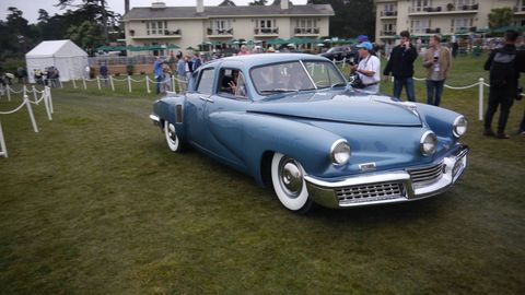 Here are some of the cool cars that parked on the lawn at Pebble Beach this year. See if you can pick out the winner. This year there was a class for Tuckers.