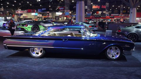 SEMA celebrates cars, trucks and SUVs of all description, but one of our favorites is the great American Sedan - and Coupe. Here are a few we found on the SEMA floor.