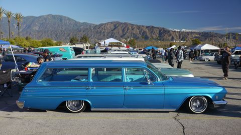 The show covered a wide variety of cars, from traditional hot rods to rat rods and even custom vans.