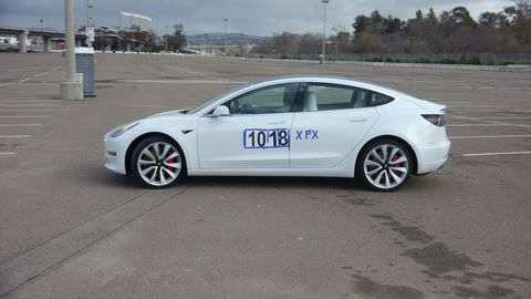 The Model 3 Performance driven by Denny Bevis.