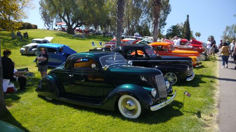 While the show welcomes all kinds of great cars, there seemed to be an increase in the number of hot rods at the show over the years. Here are a bunch of them.