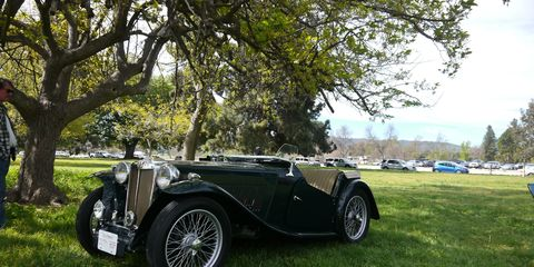 Who knew L.A. had so many British cars hidden away? Sure, there are Bentleys and Rollers cruising Beverly Hills all day long, but a Morris Minor Cabriolet? A Triumph Herald Convertible? TWO Lotus Elites? No, for that kind of ephemera you have to attend The Queen's English car show!