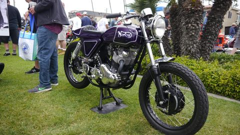 Over 50 classic motorcycles showed up for the Seal Beach Vintage Motorcycle Show
