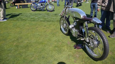 The 11th Quail Motorcycle Gathering featured 356 bikes. This one is a custom job by Dustin Kott, whose shop, Kott Motorcycles in Newhall, Calif., specializes in the Honda CB. It just so happened that the 50th anniversary of the Honda CB 750 was being celebrated at the Quail.