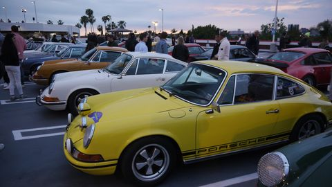 Every year for the past few years the Petersen Automotive Museum in Los Angeles has hosted a party on the night before Luftgekuhlt called Air Meets Water. While Luftgekuhlt, Patrick Long's big bash for air-cooled Porsches, only allows - duh - air-cooled Porsches, the Petersen is far more ecumenical, welcoming all Porsches, as long as they're 911s, anyway.