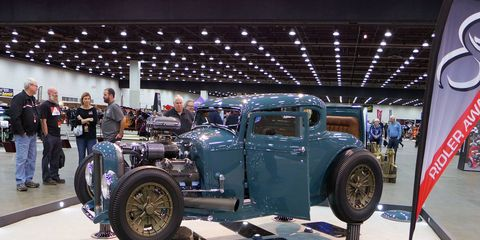 'After Thought,' a 1930 Ford Model A Coupe, owners Ted and Colleen Hubbard, South Bend, Nebraska