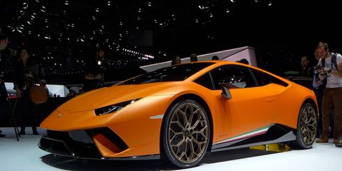 The Lamborghini Huracán Performante will hit 62 mph from a standstill in 2.9 seconds.