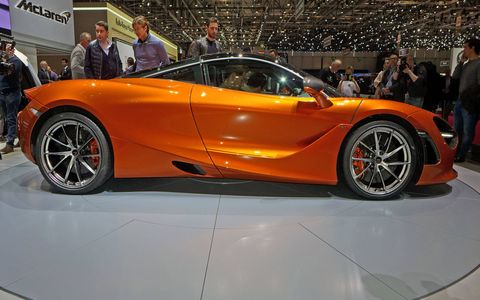 McLaren unveiled the 720S at the 2017 Geneva motor show. Powered by a 710-hp twin-turbocharged V8, the 720S weighs 3,128 pounds wet and runs from 0 to 60 mph in 2.8 seconds.