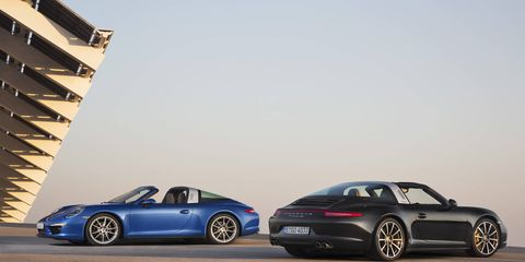 Just like the legendary original 911 Targa, the new models feature the distinctive Targa bar, a movable front roof section and a wraparound rear window.