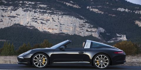 The 911 Targa 4S delivers 400 hp from its 3.8-liter horizontally opposed 6-cylinder engine; and is capable of accelerating from zero to 60 mph in 4.2 seconds when equipped with PDK and the Sport Chrono package.