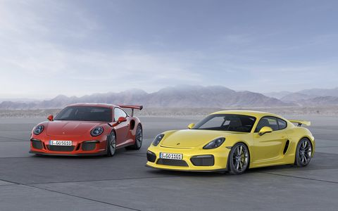 The 2016 Porsche 911 GT3 RS debuted at the Geneva motor show with 500 hp and 338 lb-ft of torque.