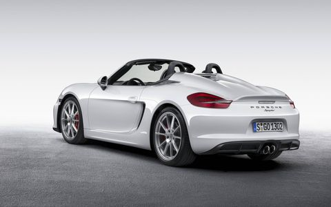 The Spyder will be the lightest model in the Boxster range.