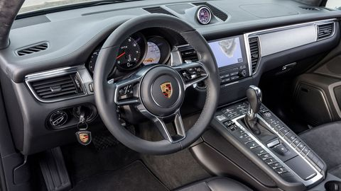 The 2018 Porsche Macan GTS gets sportier trim, inside and out.