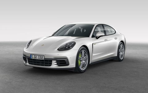 First drive of the 2018 Porsche Panamera E-Hybrid plug-in luxury sedan.