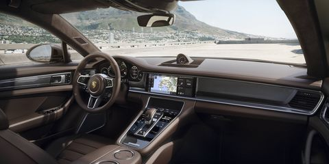 The 2018 Porsche Panamera Turbo Sport Turismo is available in 12 interior colors.