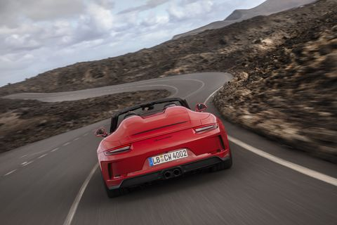 The Speedster has a cloth top that protects you from the rain and blazing sun. But using it one of the worst car nerd sins to commit. And 502-hp from the 4.0-liter is the only radio you'll ever need.
