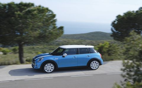 A rear view camera and Parking Assistant are also available for the new 2015 Mini Cooper S Hardtop.