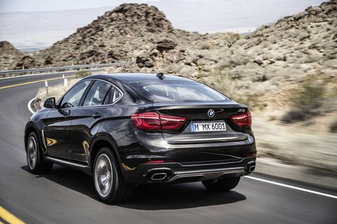 The 2018 BMW X6 comes with either a 300-hp I6 or a 445-hp V8.