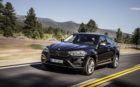 The new X6 introduces the first rear-wheel drive model in the line-up with the X6 sDrive35i, powered by BMW's award-winning 300 horsepower TwinPower Turbo inline six. (The xDrive50i is shown here)