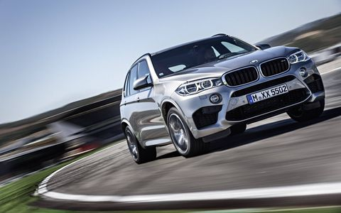 The 2017 BMW X5M ups the ante over the base X5 with a 567-hp 4.4-liter twin-turbocharged V8.