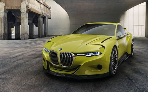 BMW brought its 3.0 CSL Hommage concept to the prestigious Concorso d'Eleganza Villa d'Este this year. The bright green concept is inspired by the lightweight 3.0 CSL homologation special introduced in 1972.