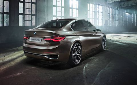 The BMW Concept Compact Sedan made its debut at Auto Guangzhou 2015 in November.