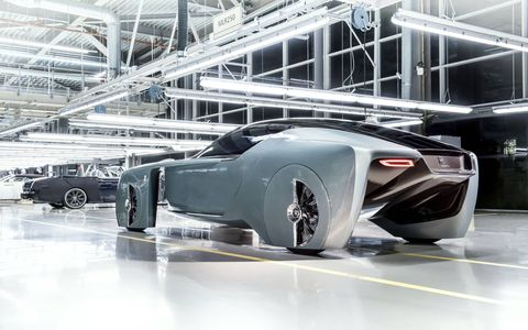 The Rolls-Royce Vision Next 100 concept, code named 103EX, is as autonomous as it is silk-swathed. It's meant to provide a look at what the elite will be riding around in come 2116.