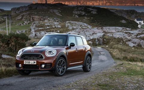 The large Mini Cooper gets much bigger and packs a 189 hp 2.0-liter turbo four cylinder in S trim.