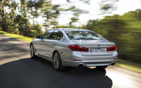 The latest hybrid 5-Series will debut at the Detroit auto show.
