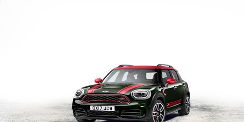 The new Mini John Cooper Works Countryman All4 sports a turbocharged 2.0-liter I4 making 228 hp and 258 lb-ft of torque.