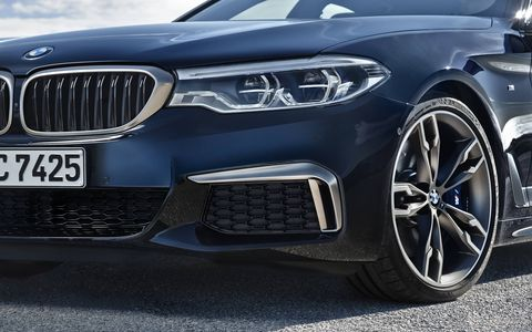 The 2018 BMW M550i xDrive will make its world debut at the Detroit auto show.