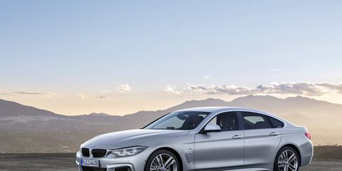The 2018 BMW 430i xDrive Gran Coupe gets a turbocharged 2.0-liter making 248 hp; the 440i models come with a 320-hp turbocharged I6.