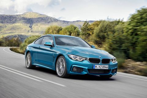 The 2018 BMW 430i and 440i (pictured) are both available with the M Sport Package, which includes 18-inch wheels, sport seats, aluminum dark carbon trim, M steering wheel, aerodynamic kit, shadowline exterior trim and an anthracite headliner.