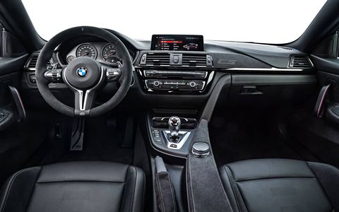 The CS gets a sportier interior than the basic 4-series.