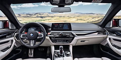 The next-gen BMW M5 looks as plush on the inside as any other M5 we've seen.