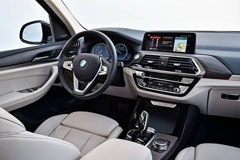 The 2018 BMW X3 M40i is available with a pre-crash accident detection system, standard sport seats, three-zone automatic climate control and reclining rear seats.