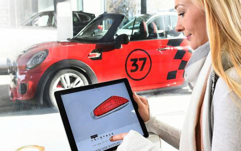 Mini will offer owners the opportunity to customize their car's trim pieces and LED projectors, and have them 3D-printed for installation in just a few weeks.