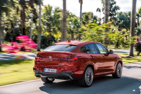 The 2019 BMW X4 comes with either a 2.0-liter turbocharged four or a turbocharged I6.