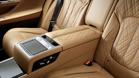 Inside the new 7-series, you'll find no shortage of leather and high tech features.