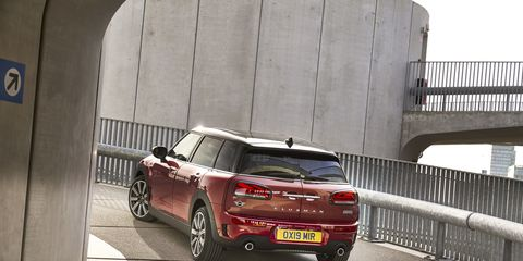 The 2020 Mini Clubman sticks with the current model spread, offering front- or all-wheel drive with a turbocharged, 1.5-liter three-cylinder in the Clubman (134 peak horsepower, 162 lb-ft of torque), a 2.0-liter four in the Clubman S (189 hp, 207 lb-ft) and a hot-rodded four in the Clubman John Copper Works (228 hp, 258 lb-ft).