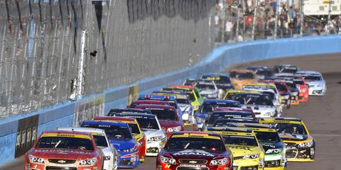 The race at Phoenix on Sunday drew a strong 3.1 rating on ESPN, which represented an increase of nearly 15 percent over the same race last year.