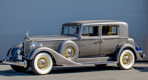 LOT S124 1933 Packard 1005 V-12 Club Sedan CCCA Full Classic, 1 of 520 Produced